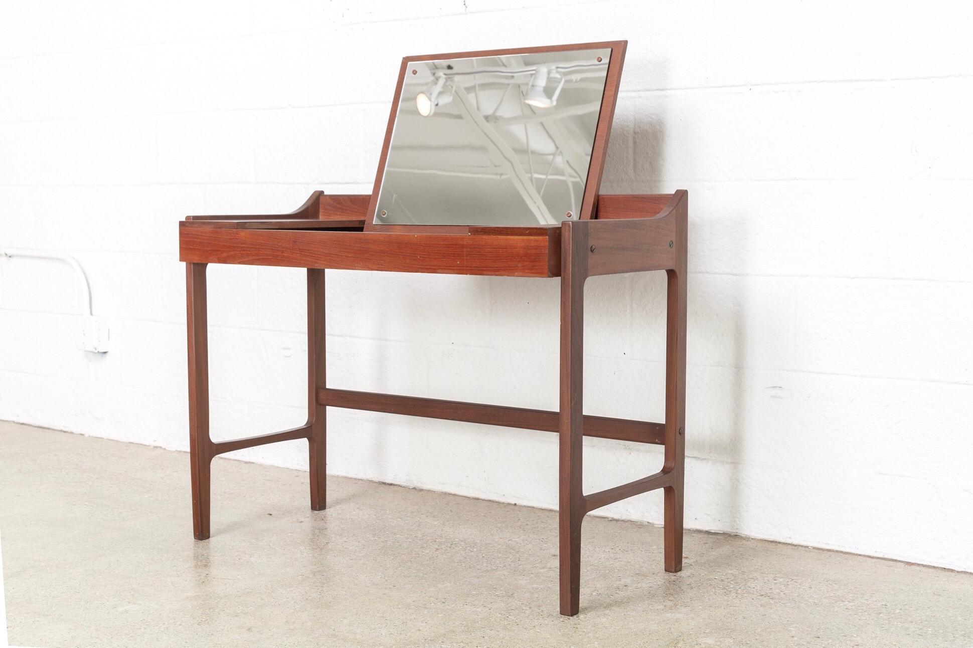 Danish Modern Teak Vanity Table Chairish