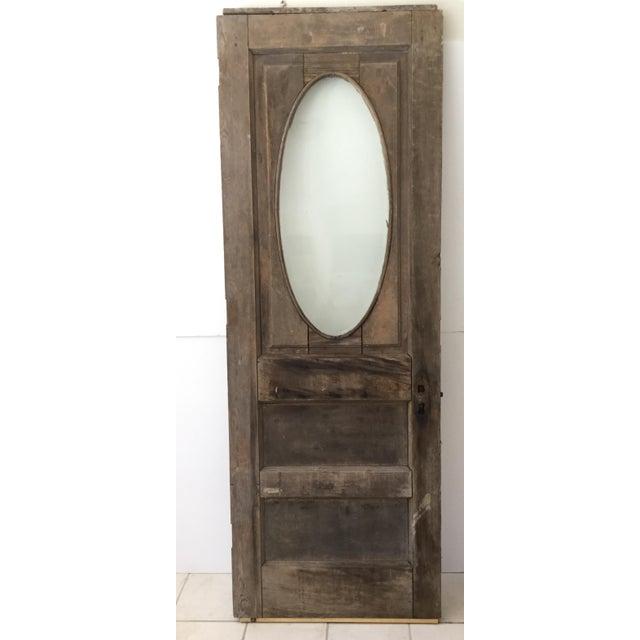 Antique Beveled Glass & Wooden Door - Image 6 of 10