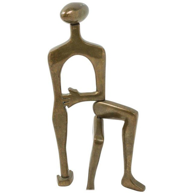 Gold Mid-Century Brass Sculpture by Arleen Eichengreen and Nancy Gensburg For Sale - Image 8 of 8