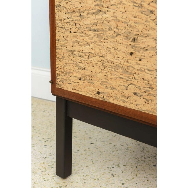Italian Modern Mahogany and Cork Four-Door Credenza or Buffet For Sale - Image 9 of 9