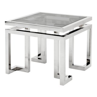Square Silver Side Table | Eichholtz Palmer For Sale