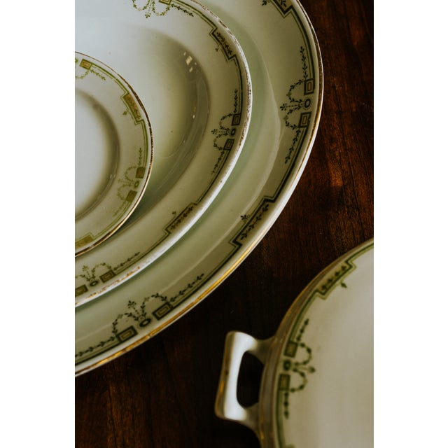 White 1920s Vintage W. H. Grindley & Co. China Dishes and Serving Platter For Sale - Image 8 of 10