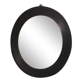 Antique Ebonized Convex Mirror For Sale