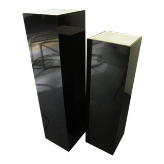 Vintage Mid-Century Modern Acrylic Lighted Pedestals - a Pair For Sale