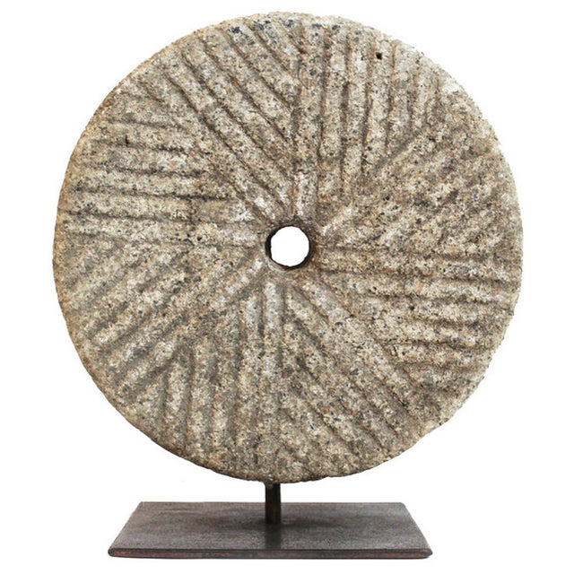 Granite Wheel on Stand - Image 1 of 2