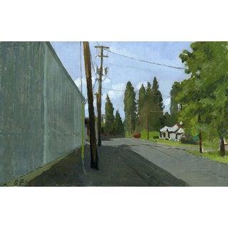 C St. Phoenix, Oregon: Original Oil Painting Urban Plein Air Landscape For Sale