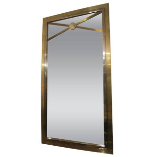 Bronze and Chrome Rectangular Mirror For Sale