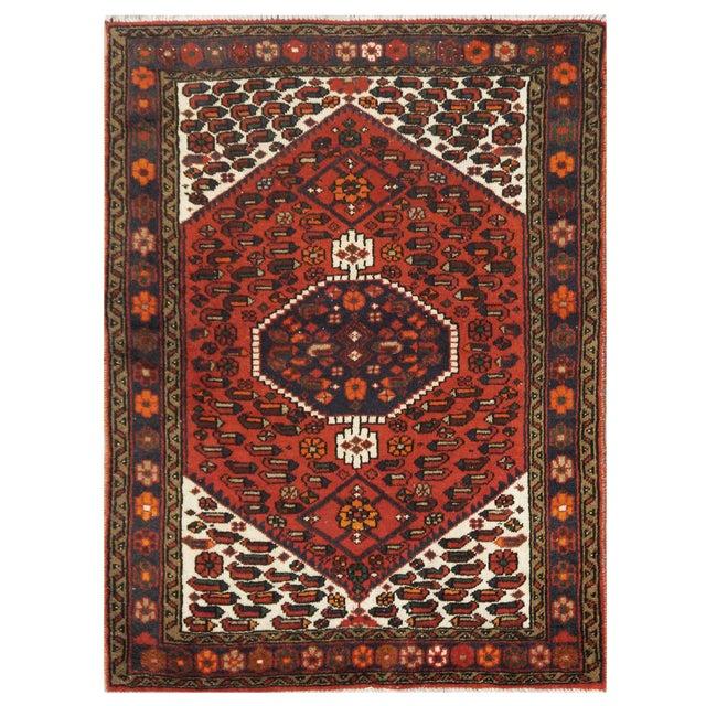 Vintage Persian Hamedan Rug - 3'4'' x 4'8'' For Sale