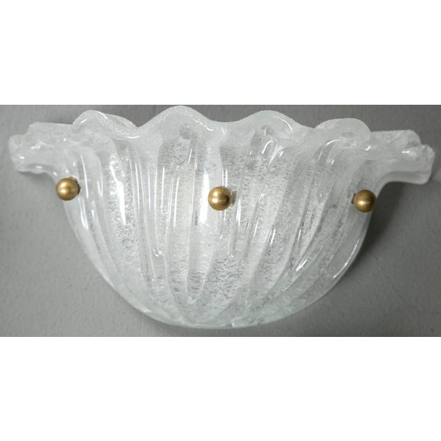 Art Deco Murano Glass Shell Sconces - a Pair For Sale - Image 3 of 5
