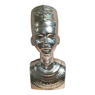 Silver Egyptian Nefertiti Statue For Sale
