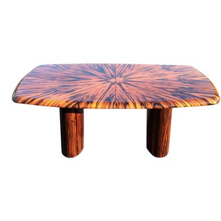 Leon Rosen for Pace Zebrawood Dining or Conference Table