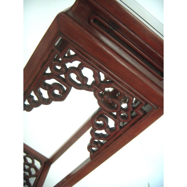 Rosewood Vintage 'Ming' Style Chinese Solid Rosewood Curio Display Pedestal/Stand For Sale - Image 7 of 7