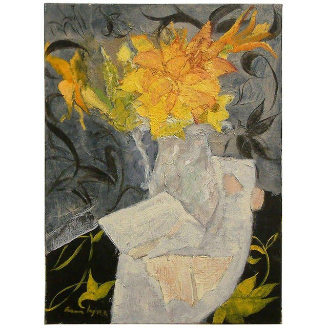 """Lace & Lillies"" Oil on Linen For Sale - Image 5 of 5"