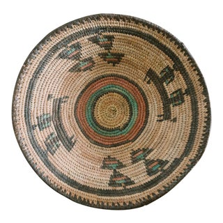 Vintage Nigerian Handwoven Basket