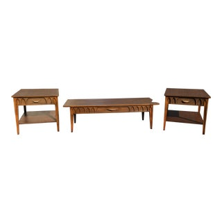 Mid-Century Modern Brasilia Style Laminate Coffee and End Tables - Set of 3