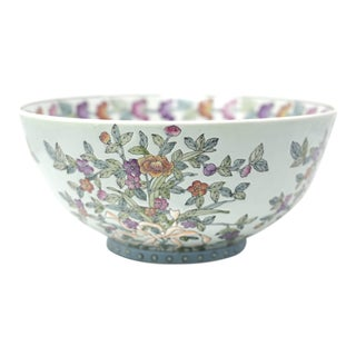 Large Vintage Porcelain Bowl For Sale