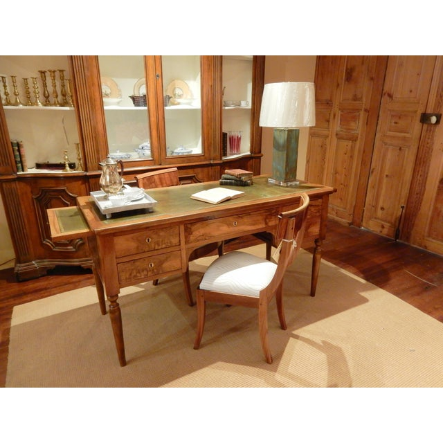 Brown 19th C. French Leather Top Desk For Sale - Image 8 of 12
