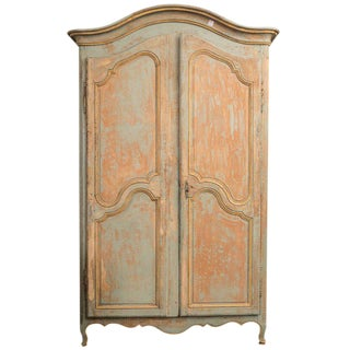19th C. Provincial Painted Armoire