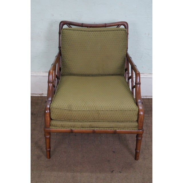 Century Furniture Co. Faux Bamboo Lounge Chair - Image 2 of 10