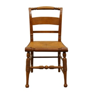 Late 20th Century Vintage Thomasville Furniture Welsh Cherry Collection Dining Side Chair For Sale