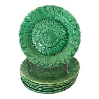Wedgwood Majolica Leaf Plates, Set of 8 For Sale