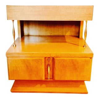 1960s Mid-Century Modern American of Martinsville Two-Tiered Nightstand For Sale