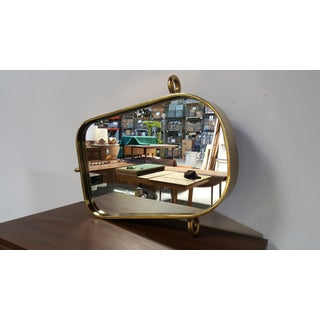 Vintage Brass Nautical Mirror Preview
