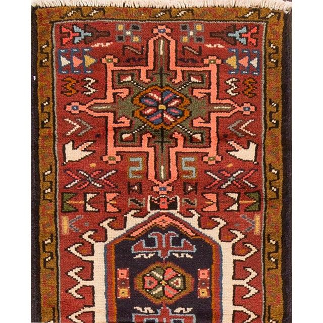 "Islamic Apadana - Vintage Persian Heriz Rug, 1'7"" x 6'3"" For Sale - Image 3 of 5"