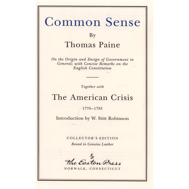"Transitional 1994 ""Common Sense"" Collectible Book For Sale - Image 3 of 4"