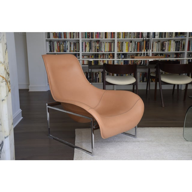B&b Italia Leather Mart Chair For Sale - Image 12 of 12