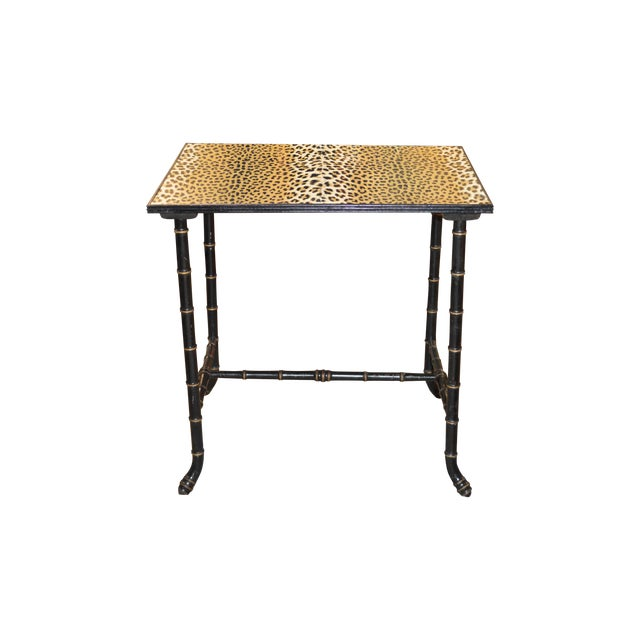 Vintage Rattan Side Table - Image 1 of 7