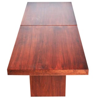 John Keal for Brown Saltman Walnut Extendable Coffee Table For Sale