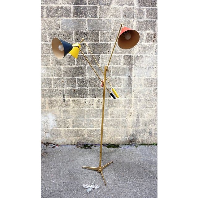 Arredoluce Angelo Lelli for Arredoluce Triennale Floor Lamp For Sale - Image 4 of 11