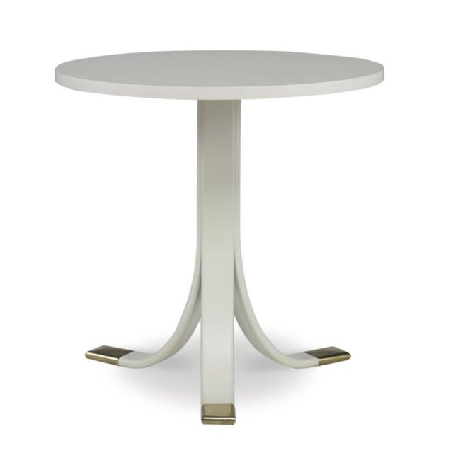2010s Earl Side Table in Oyster Finish For Sale - Image 5 of 5