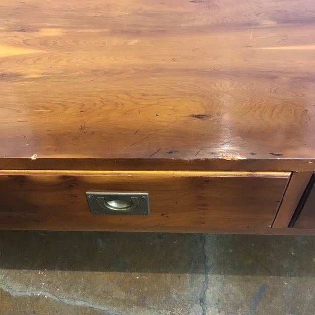 Ethan Allen English Campaign Coffee Table - Image 7 of 7
