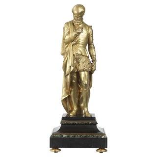 19th Century Gilt Bronze Sculpture of Classical Figure For Sale