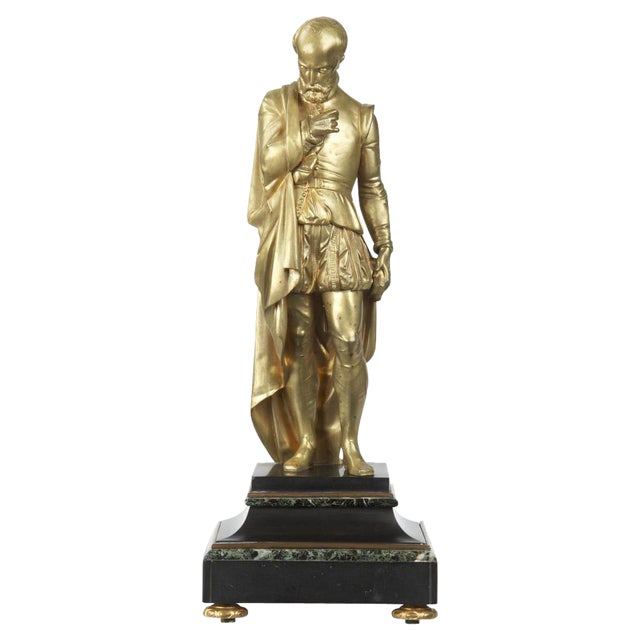19th Century Gilt Bronze Sculpture of Classical Figure For Sale
