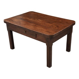 English 19th Century Walnut and Oak Low Table For Sale