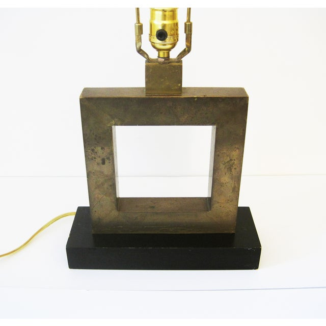 Robert Abbey Robert Abbey Square Brass Lamp For Sale - Image 4 of 6