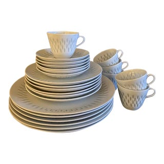 Arabia Finland Rice Pattern Porcelain Dinnerware - 56 Pc. Set For Sale