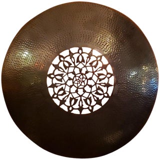 Old Moroccan Copper Wall Sconce For Sale