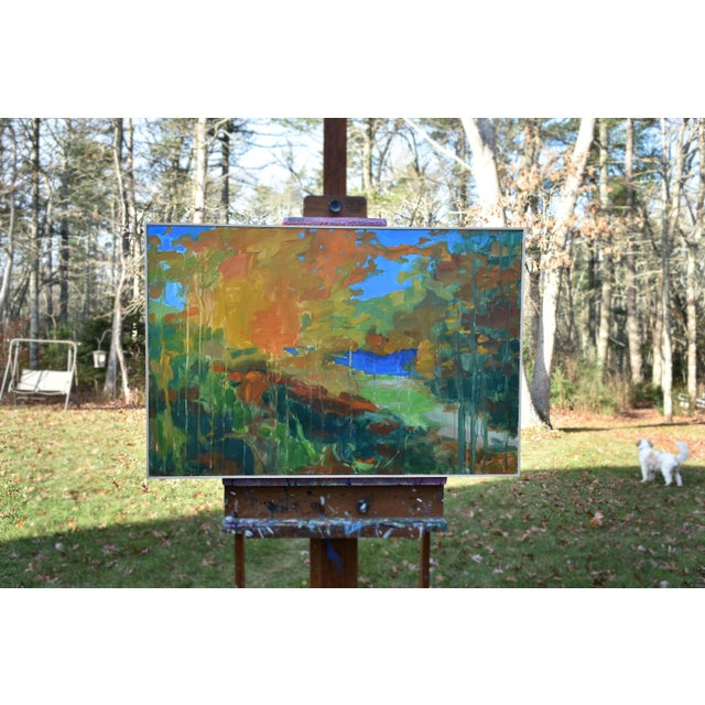 """Abstract Stephen Remick """"Path to the River"""" Painting For Sale - Image 3 of 11"""