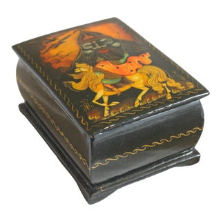 """Russlan and Ludmilla"" Russian Lacquer Box For Sale"