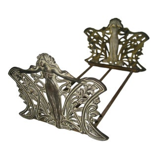 1910s Vintage Art Nouveau Book Rack For Sale