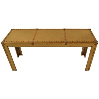 Brass Console by Sarreid For Sale