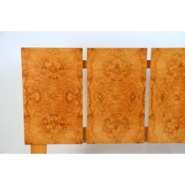 1970s Minimalist Burl Wood Queen Size Headboard by Lane For Sale - Image 5 of 8