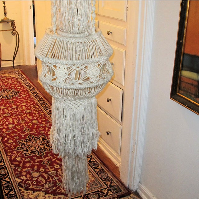 1970's Woven Yarn Hanging - Image 4 of 5