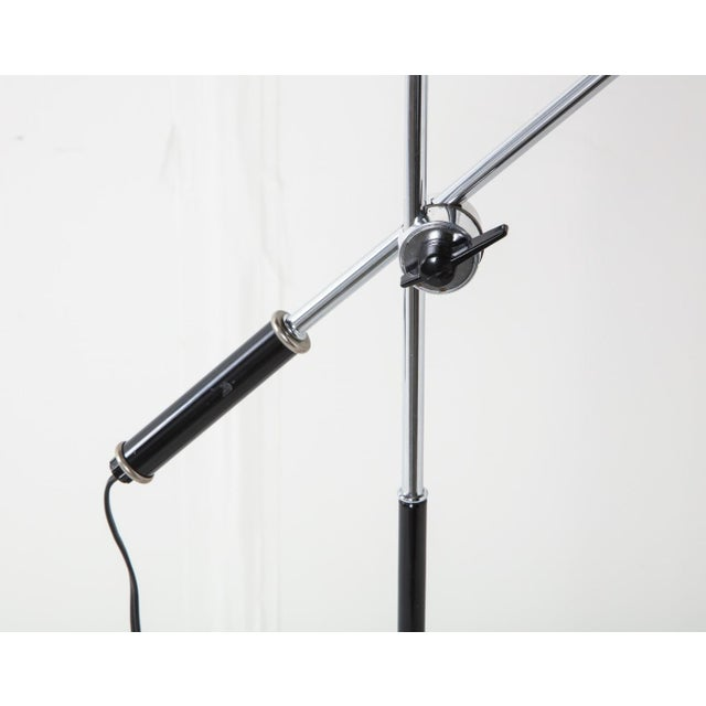 Mid-Century Chrome and Black Adjustable Floor Lamp For Sale In New York - Image 6 of 12