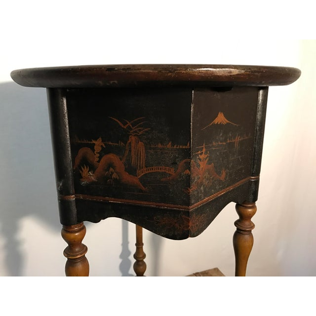 Vintage Hand Painted Asian Smoking Stand - Image 8 of 9
