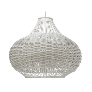 Boho Chic Woven Rattan Pendant Light